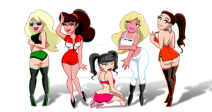 Adoptable Grid Girls by PinkyPills