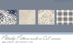 Blue cream tone Photoshop patterns by Coby17