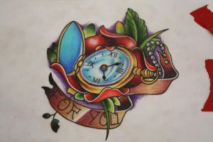 Clock and Flowers by EricTatt
