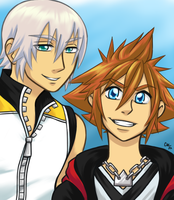 Riku and Sora by airatainted