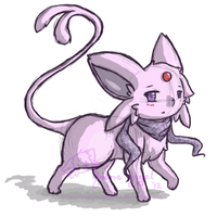 Angel Espeon by Espyfluff