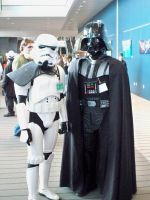 Darth Vader and Storm Trooper by AngelicDemonSlayer