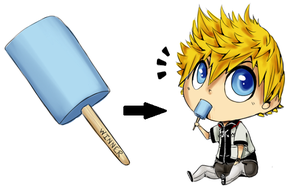 Sea Salt Ice Cream Roxas by SuperHeroPattyFatty