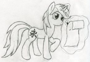 Parchment sketch by Brizner
