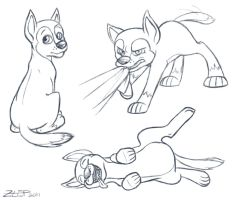 PAW Patrol - Chase sketches by z-leppelin