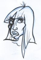 Lady Gaga face sketch by friend-of-totoro