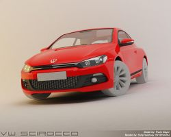 VW Scirocco - Rendering WIP 4 by shilpinator