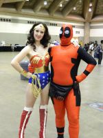 Wonder Woman and Dead Pool by OtakuUnited