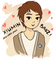EXO-M's Xiumin -ANIMATED GIF- by Anante