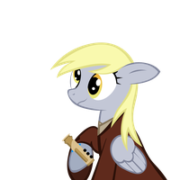 Knight Derpy and her Saber by Bouxn