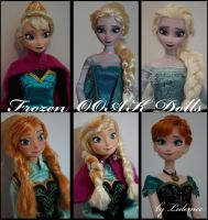 Disney Frozen OOAK dolls by lulemee