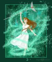 Aeris and the Lifestream by MegamiJadeheart