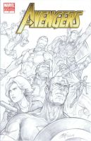Avengers blank variant sketch by Oshouki