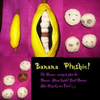 Banana Plushie Cute by Wolfriderxangel