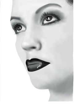 Black and white vector portrai by Ernest62