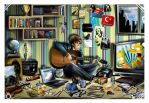 His messy room by Artist-in-Despair