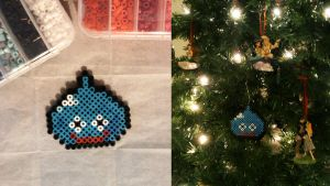 Pixel bead Slime by coffeejelly