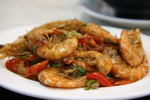 Fried prawns by patchow