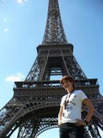 At the Eiffel tower by hothorsechik