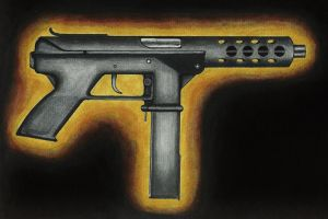 Jack's Tec-9 from Big Trouble in Little China by stuponitron