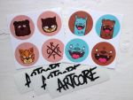 Artcore sticker fanpack by artcoreillustrations