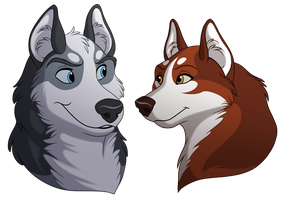 Huskies - Gift by kohu-arts