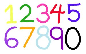 Gareth's Synaesthetic Numbers by Rococokara