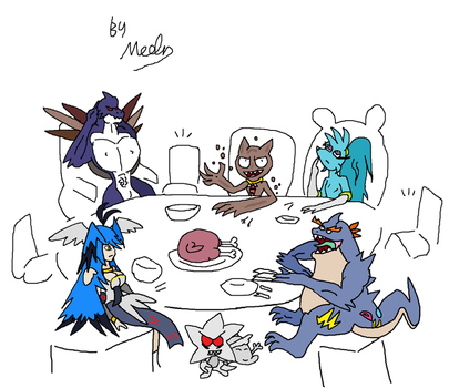 Thanksgiving Waiting (Unofficial Crossover) by Meglind