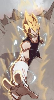 Vegeta attack by Anny-D