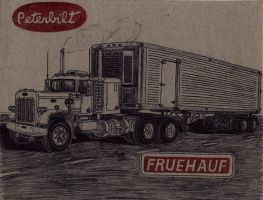 359 Peterbilt/Fruehauf Trailer Sketch by Deorse