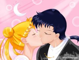 Usagi and Seiya by Yezhika