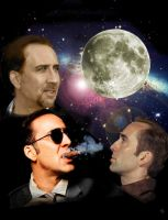 Three Nicolas Cage Moon by ZarinaAlecki