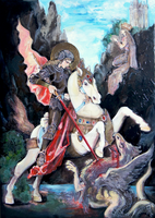 Saint George and the dragon by Blachorum