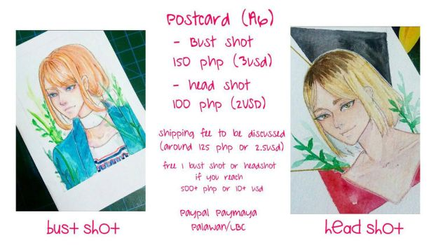Postcard A6 Commission Sheet by MaidMei