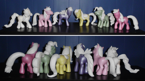WIP: My Little Pony 'Old Meets New' Custom Group 1 by UniqueTreats