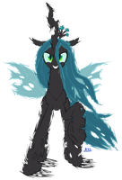 PonyKart - Queen Chrysalis (flash drawn) by Blue-Paint-Sea