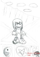Knuckles Standing by KnucklesTheEchidna53