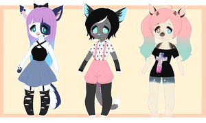 Pastel Goth Adopt Batch: $5/500 points Each! by Osolito