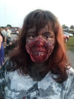 My sister  at zombie fest. by jessthecase88
