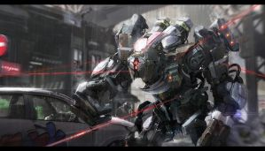 urban intervention mech by ptitvinc