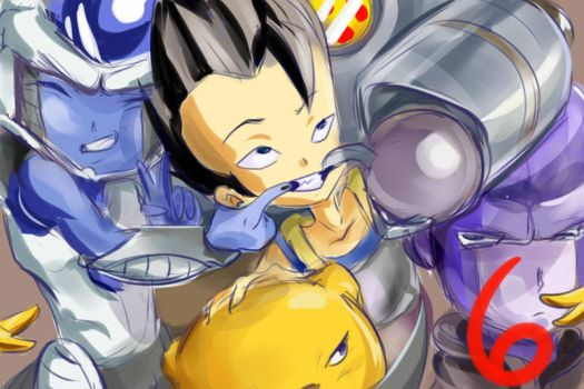 Universe 6 sketch : Cabba and Crew by DrawPlzForum