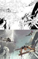 Wild Blue Yonder issue 4 Process Spread by Spacefriend-KRUNK