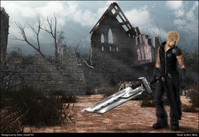 Cloud and the Church Wallpaper by Nixity