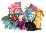 My Pokemon team by purplemagechan