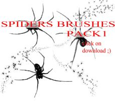Spiders brushes PACK 1 by whynotastock