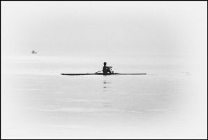 Rowing silhuette by easwee