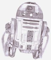Artoo in mid flight by Slayerlane