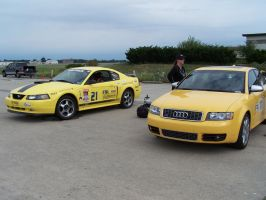 Mustang and an Audi by eastpunkmafia
