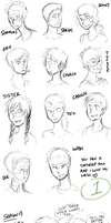 Sketchdump 48 +Red vs. Blue+ by ratopiangirl