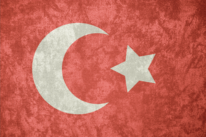 Ottoman Empire ~ Grunge Flag (1844 - 1924) by Undevicesimus